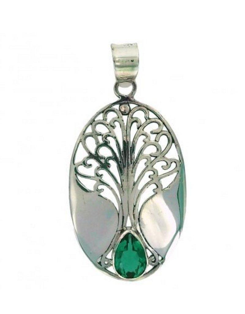 Vera Wolf Sterling Silver Grande Tree of Life Pendant
