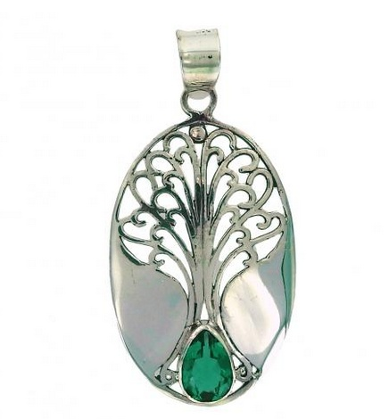 Vera + Wolf Sterling Silver Grande Tree of Life Pendant