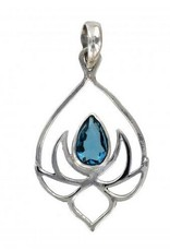 Vera + Wolf Sterling Silver Lotus Pendant