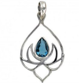 Vera + Wolf Sterling Silver Lotus Pendant