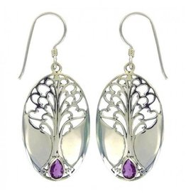 Vera + Wolf Grande Tree of Life Gem Stone Earring