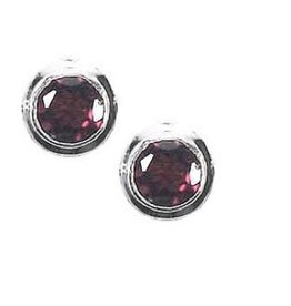 Vera + Wolf Sterling Silver Gem Stone Stud Earrings