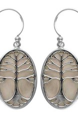 Vera + Wolf Sterling Silver Mother of Pearl Tree of Life Earring