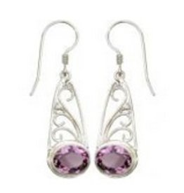 Vera Wolf Sterling Silver Swirl w/ Granulation Earrings