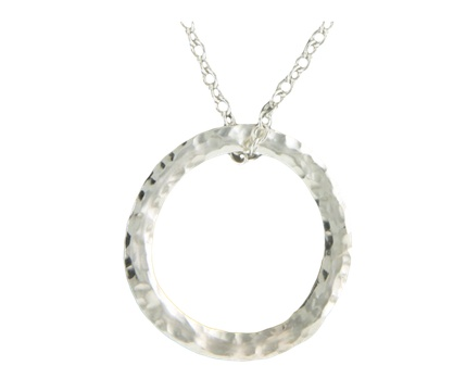 Mark Steel Hand Hammered Sterling Silver Pendant Necklace