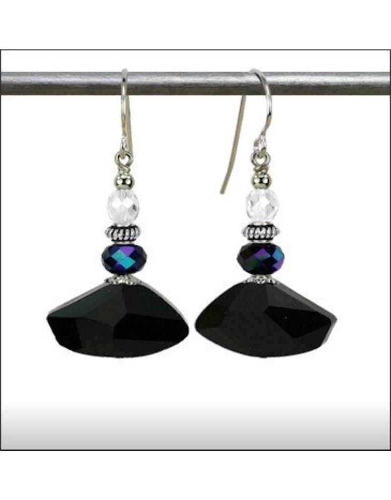 Austin Design Axe Angular Glass Earrings