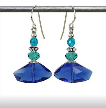 Austin Cake Axe Angular Glass Earrings