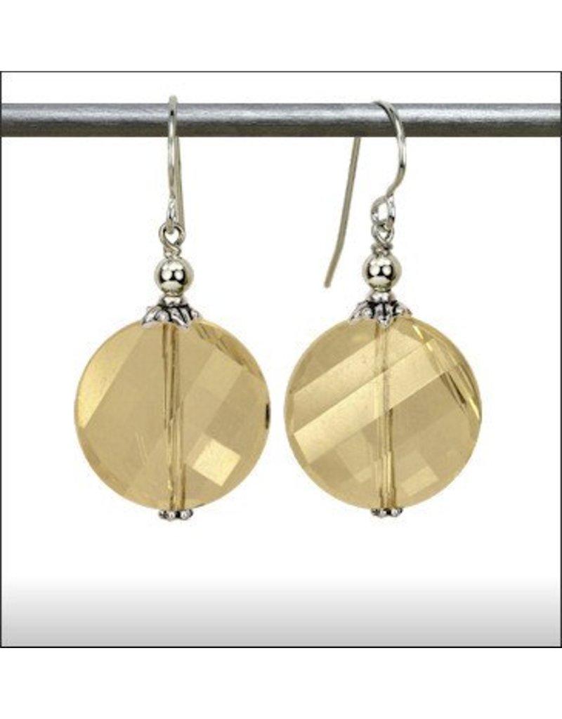 Austin Design Czarina Twisted Coin Crystal Earrings