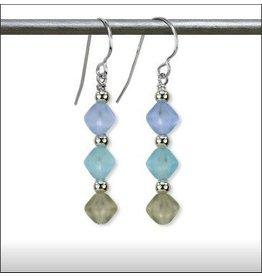Austin Design Triad Angular Glass Earrings