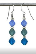 Austin Cake Triad Angular Glass Earrings