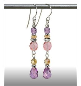 Austin Design Tendril Crystal Tear Drop Earrings