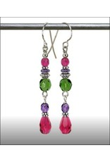 Austin Design Tendril Crystal Tear Drop Earrings