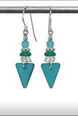 Austin Cake Sea Style Triangle Earrings