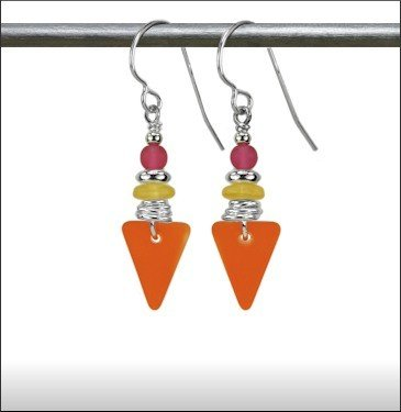 Austin Cake Sea Style Triangle Earrings