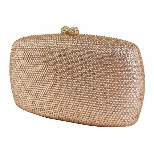 City Design Group Champagne Crystal Hard Case Clutch