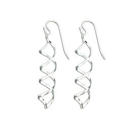 Mark Steel Earrings Sterling Silver F28 Spiral