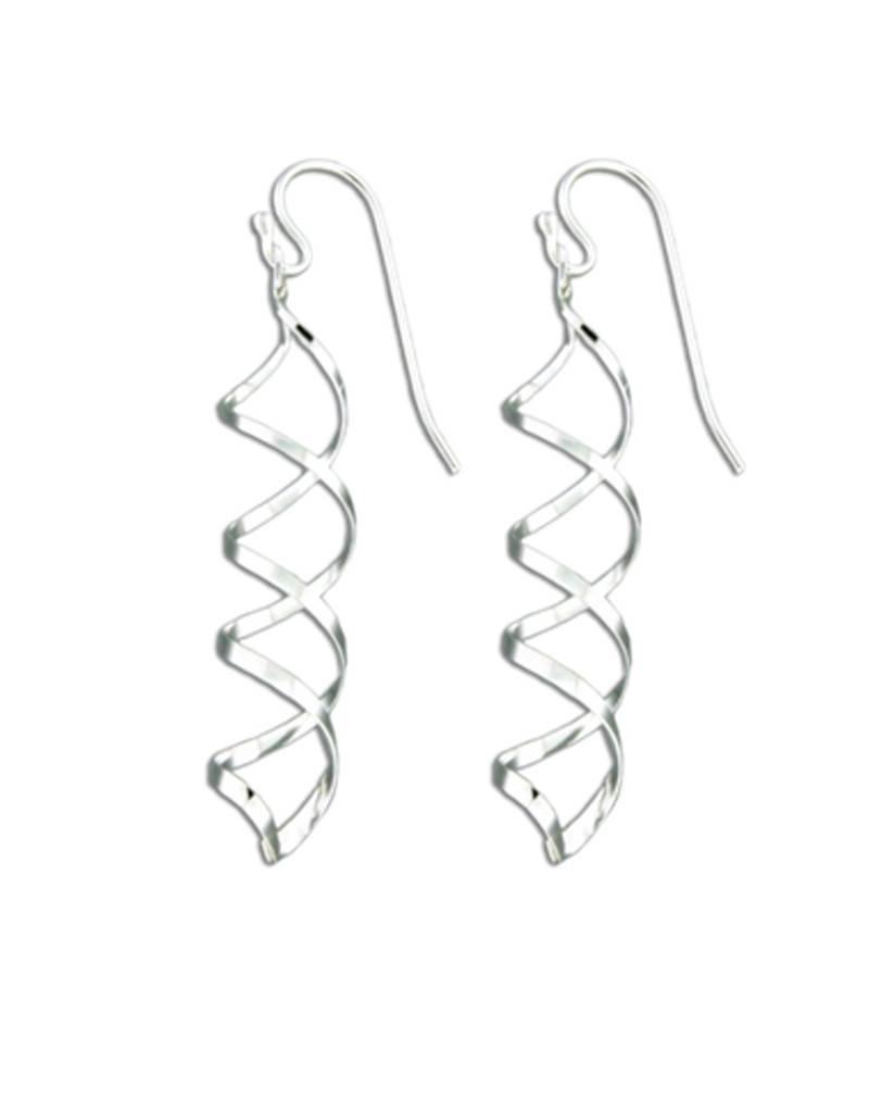 Mark Steel Earrings Sterling Silver F28 Spiral