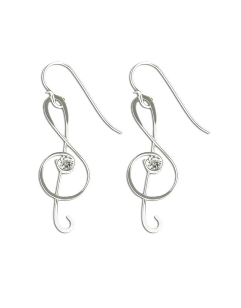 Mark Steel Earrings F18 Sterling Silver