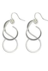 Mark Steel Swing Set Earrings Sterling Silver
