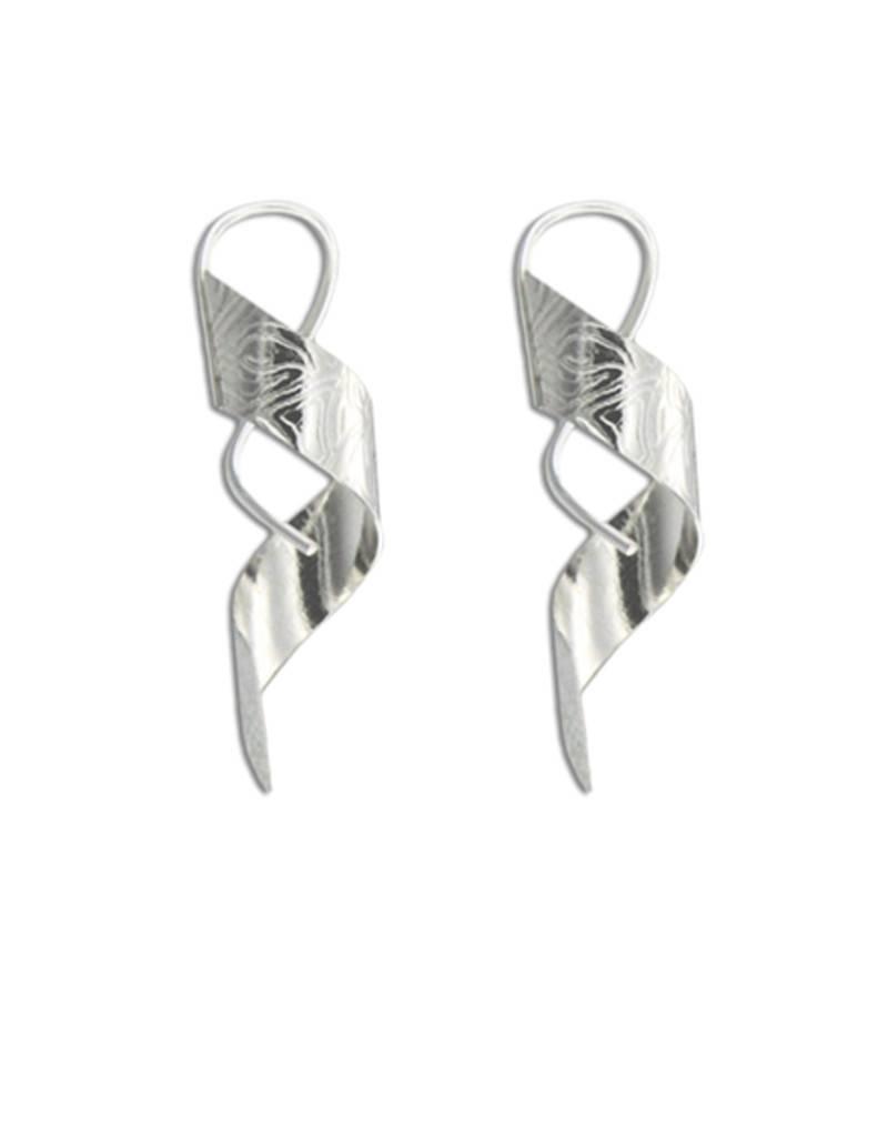 Mark Steel Tatoo Spiral Earring Sterling Silver