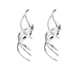 Mark Steel Confetti Mini Spiral Earring Sterling Silver