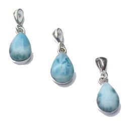 Esmeralda Lambert Larimar Large Sterling Silver Pendant Necklace