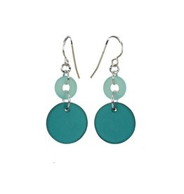 Austin Design Earrings Cirque Zircon Green Aqua
