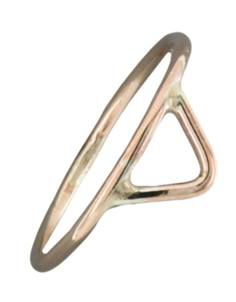 Mark Steel Triangle Ring Gold Filled 145
