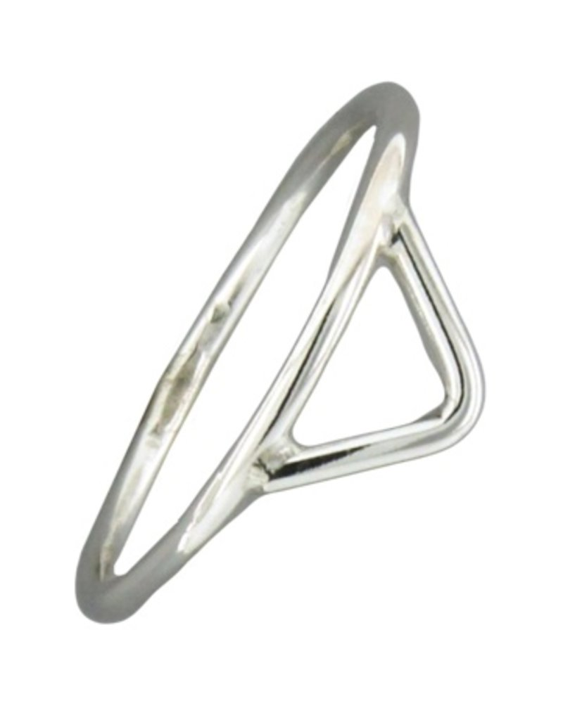 Mark Steel Triangle Ring Sterling Silver 145