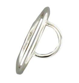 Mark Steel Half Circle Sterling Silver Ring 141