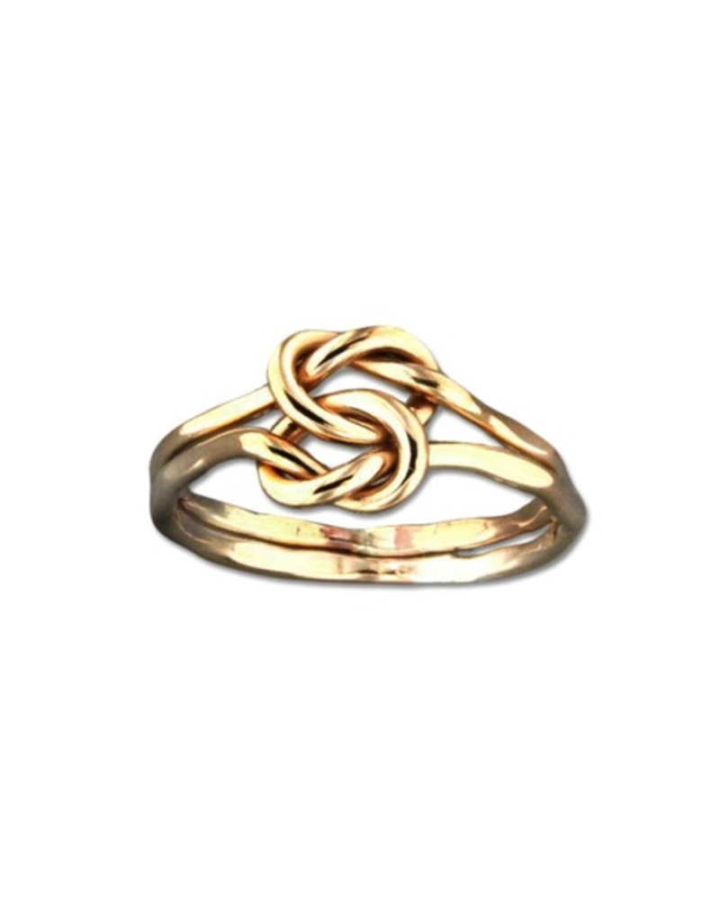 Mark Steel Love Knot Gold Filled Ring 46