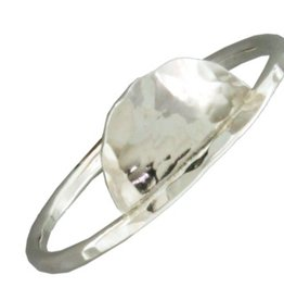 Mark Steel Hammered Half Circle Sterling Silver Ring 149
