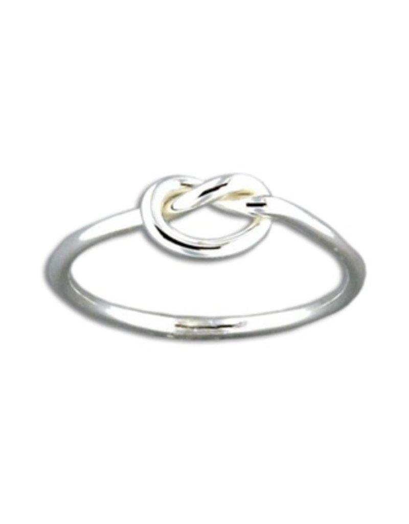 Mark Steel Single Knot Sterling Silver Ring 43