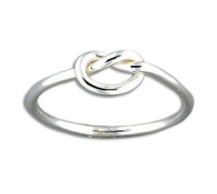 Mark Steel Single Knot Sterling Silver Ring 43
