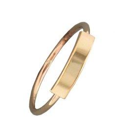 Mark Steel Bar Gold Filled Ring 148