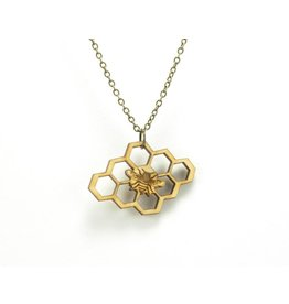 San Francisco Bay Honeycomb Bee Necklace