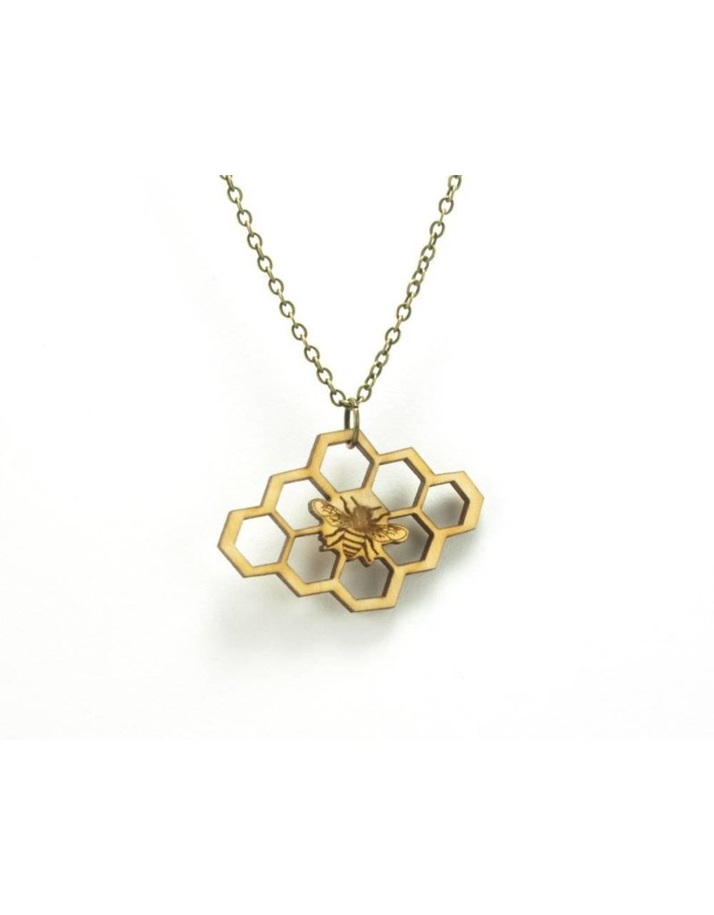 San Francisco Bay Honeycomb Bee Necklace