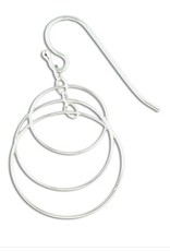 Mark Steel Extro Link Sterling Silver Earrings l20