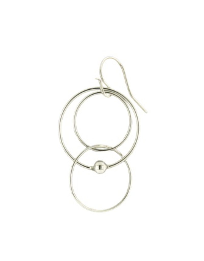 Mark Steel Single Ball Melt Sterling Silver Earring l40