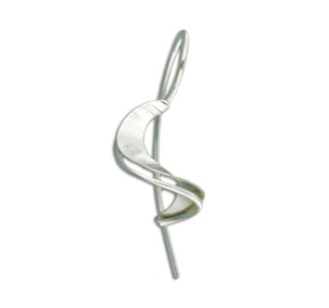 Mark Steel Staircase Mini Sterling Silver Earring