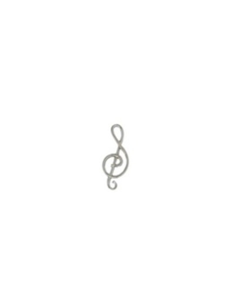 Mark Steel Music Notes Sterling Silver Post Earring