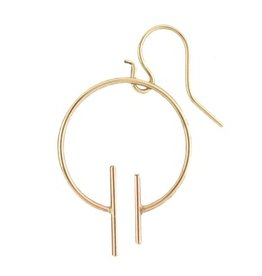 Mark Steel Double Line Rose Gold Filled Earring