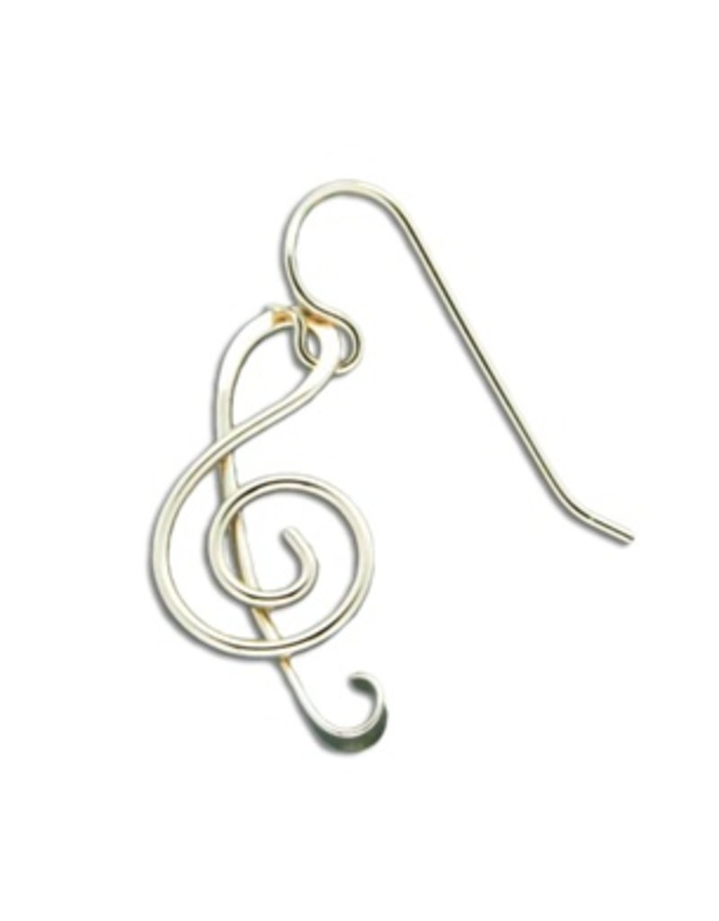 Mark Steel Music Note Gold Filled Earring