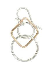 Mark Steel Geometric Gold Filled Earring