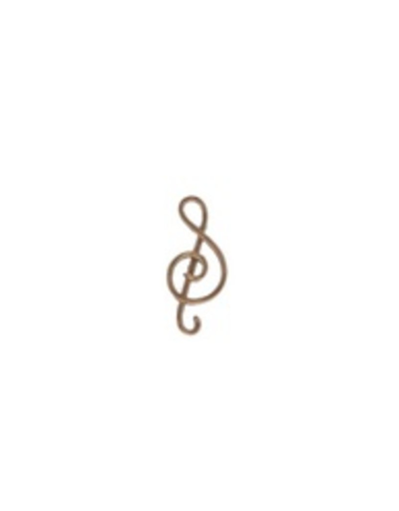 Mark Steel Music Note Gold Filled Earring