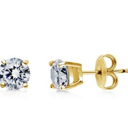 Estella J Gold-Filled CZ 1.68 ct Studs