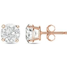 Estella J 18K Rose Gold Over Sterling Silver 1.0ct CZ Studs