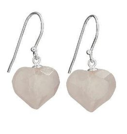 Steven + Clea Rose Quartz Heart Earrings