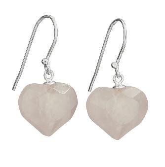 Steven + Clea Rose Quartz Heart Earrings