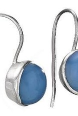 Steven + Clea Chalcedony Round Earrings